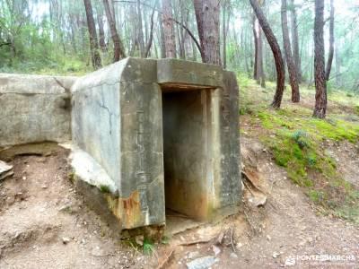 Frente Agua-Yacimiento Arqueológico Guerra Civil Española; bosque animado de oma cañon del cares sen
